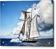 Topsail Schooner Acrylic Print by Peter Chilelli