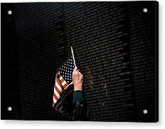 Topshot-us-politics-veterans Day Acrylic Print
