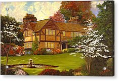 Acrylic Print featuring the painting Topsmeade House by Rick Fitzsimons