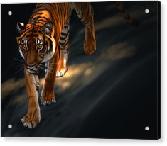 Acrylic Print featuring the digital art Torch Tiger 2 by Aaron Blaise