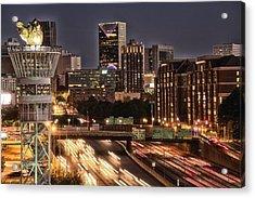 Torching Atlanta Acrylic Print by Lisa Marie Pane
