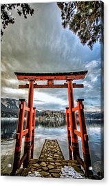 Acrylic Print featuring the photograph Tori Gate by John Swartz