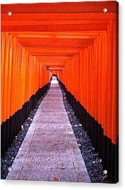 Torii Gates In Fushimi-inari Japan Acrylic Print
