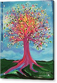 Acrylic Print featuring the painting Tori's Tree By Jrr by First Star Art