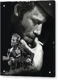 Torn Pages Tom Waits  Acrylic Print