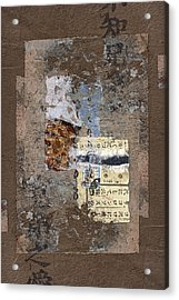 Torn Papers On Wall Acrylic Print by Carol Leigh