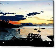 Torn Sunset Acrylic Print by Andrew Harrison