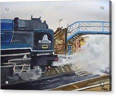 Tornado And Chertsey Station Bridge Acrylic Print by Carole Robins