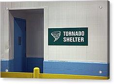Tornado Shelter Acrylic Print by Jim West