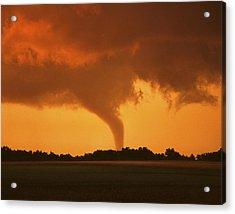 Tornado Sunset 11 X 14 Crop Acrylic Print