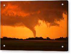 Acrylic Print featuring the photograph Tornado Sunset by Jason Politte