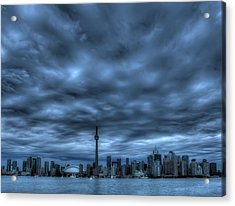 Toronto Blue Acrylic Print by Max Witjes