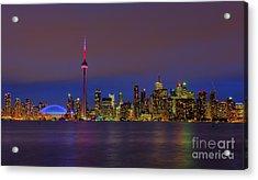 Toronto By Night... Acrylic Print