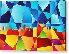 Toronto Canada Skyline Acrylic Print by Michael Tompsett