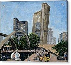 Toronto City Hall Acrylic Print by Ian  MacDonald
