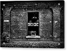 Toronto Distillery District Art Gallery Window Acrylic Print by Brian Carson