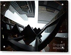 Toronto Financial District Acrylic Print by Wayne  Cook