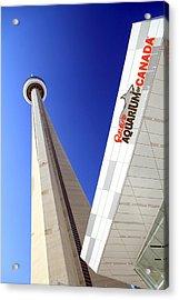 Toronto Landmarks Acrylic Print by Valentino Visentini