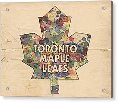 Toronto Maple Leafs Hockey Poster Acrylic Print