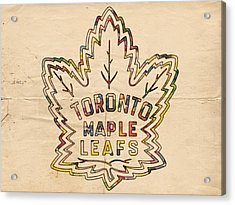 Toronto Maple Leafs Retro Poster Acrylic Print