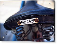 Toronto Middlemore Bike Seat Acrylic Print by Tanya Harrison