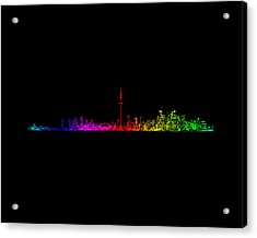Toronto Rainbow Acrylic Print by Brian Carson