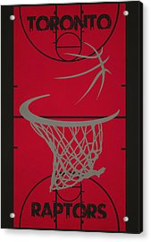 Toronto Raptors Court Acrylic Print by Joe Hamilton