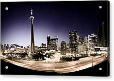 Toronto Skyline At Night Acrylic Print
