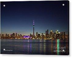 Toronto Skyline Colours Acrylic Print
