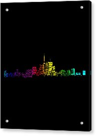 Acrylic Print featuring the digital art Toronto Skyline Gradient by Brian Carson