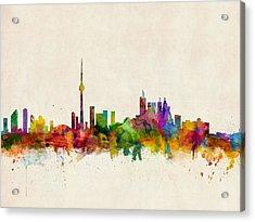 Toronto Skyline Acrylic Print by Michael Tompsett