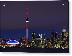 Toronto Skyline Acrylic Print by Tony Beck
