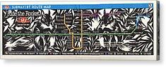 Toronto Subway Map Squirrels Acrylic Print