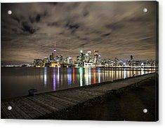 Toronto Sunset Acrylic Print by John McGraw
