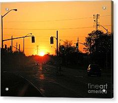 Toronto - Urban Sunset Acrylic Print by Phil Banks
