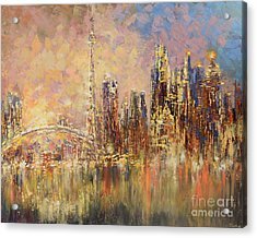 Acrylic Print featuring the painting Toronto Yyz by Tatiana Iliina