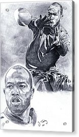 Torry Holt Acrylic Print by Jonathan Tooley