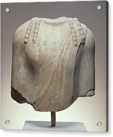 Torso Of A  Kouros Unknown Chios  About 520 B Acrylic Print by Litz Collection