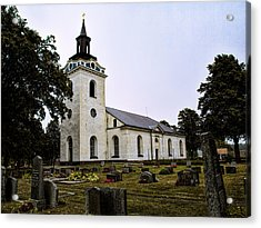 Acrylic Print featuring the photograph Torstuna Kyrka Church by Leif Sohlman
