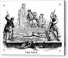 Torture On The Rack (victorian Woodcut) Acrylic Print by Whitemay