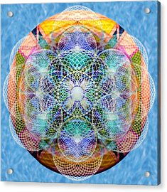 Torusphere Synthesis Cell Firing Soulin IIi Acrylic Print by Christopher Pringer