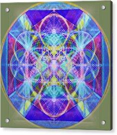 Torusphere Synthesis Vioblu Warrior Soulin II Acrylic Print by Christopher Pringer