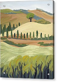 Toscana Acrylic Print by Mary Giacomini