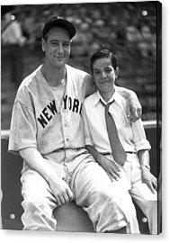 New York Great Lou Gehrig Acrylic Print