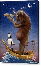 Total Bull Ship... Acrylic Print by Will Bullas