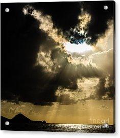 Total Solar Eclipse Breakthrough Acrylic Print by Peta Thames