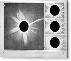 Total Solar Eclipse Of 18 July 1860 Acrylic Print