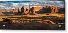 Totem Pole And Yei Bi Chei Monument Valley Acrylic Print