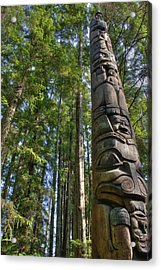 Totem Pole Acrylic Print by David Andersen