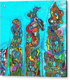 Totemism Acrylic Print by Doug Petersen